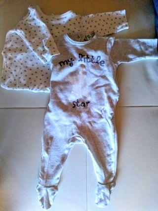 Pijamas bebé manga larga talla 3 meses