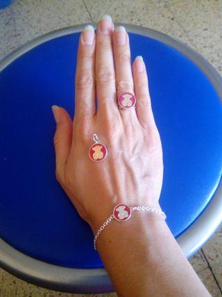 conjunto Tous pulsera, anillo, colgante