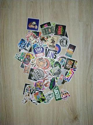 100 pegatinas skate stickers de la marca Vans