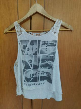 Camiseta surfera Hollister talla S