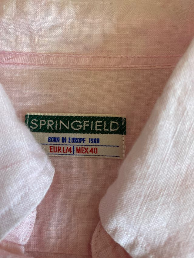IMPECABLE CAMISA SPRINGFIELD CABALLERO TL