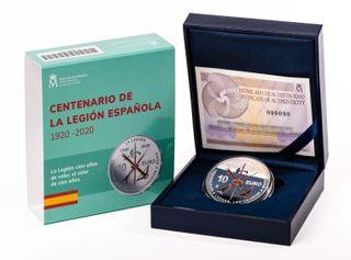 MONEDA 10 € CENTENARIO DE LA LEGIÓN ESPAÑOLA