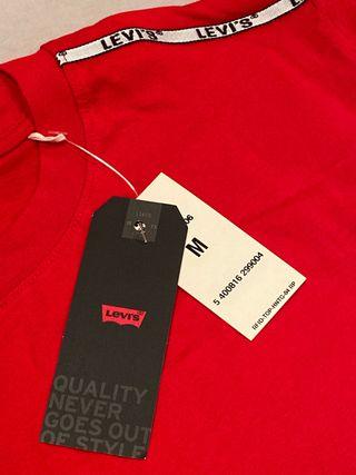 Camiseta Levis Roja Nueva