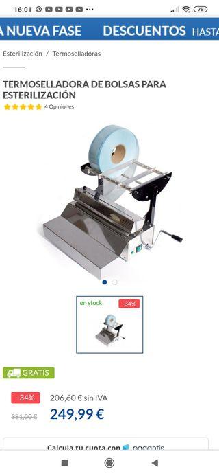 termoselladora de bolsas para esterilización
