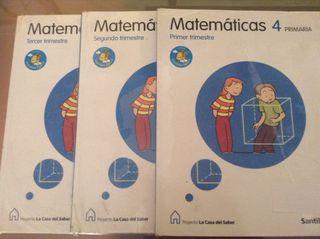 Libros Matematicas cuarto primaria
