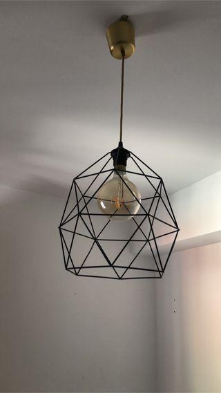 Lámpara forma de diamante con bombilla incluida