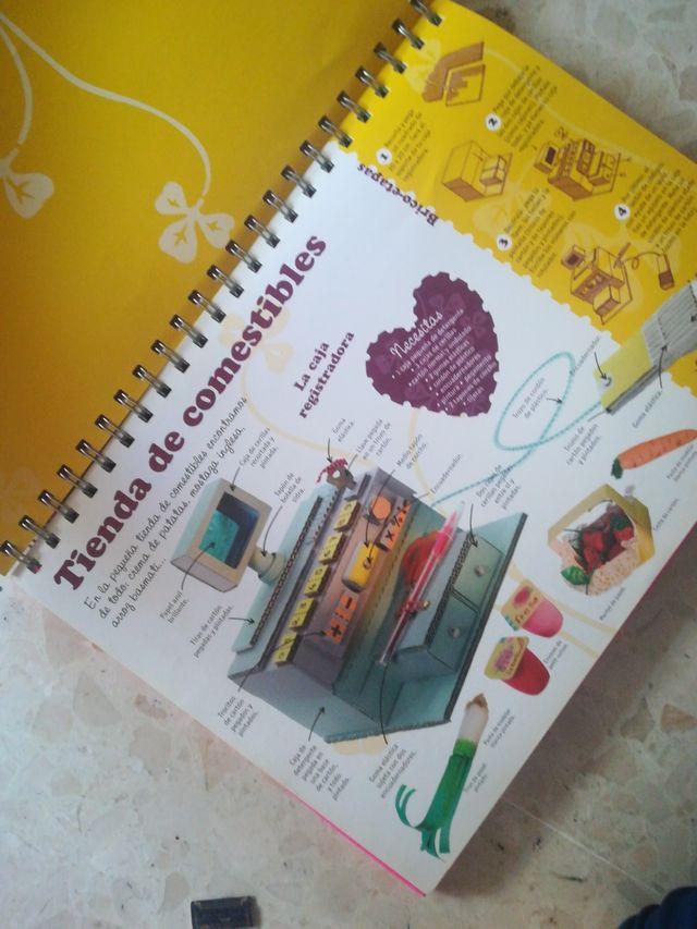 libro de manualidades y cocina fácil para niñes