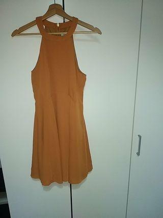 Vestido tirantes marrón talla S elegante