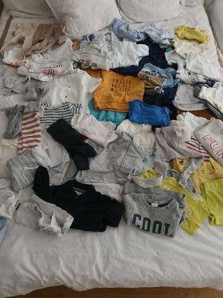 lote ropa de bebe 0 a 6 meses 60 prendas