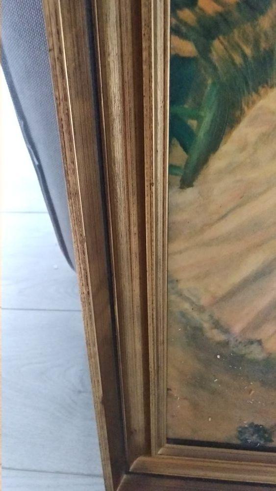 Cuadro/ marco dorado vintage