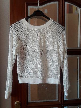 Blusa/Top blanco transparente