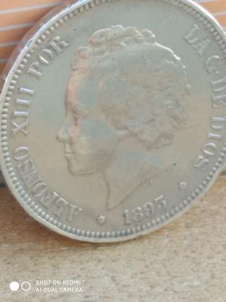 5 pesetas 1893 pgv