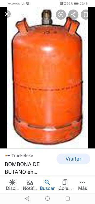 envase de gas vacia