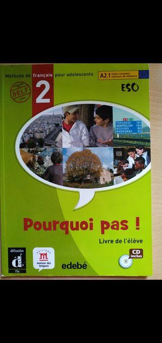 Libros inglés y francés 2°eso