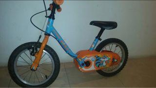 Bicicleta unisex pequeña