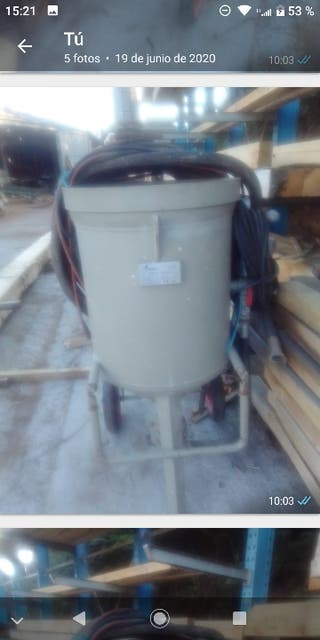 máquina de chorro de arena