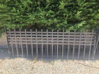 Vallas hierro forjado jardín
