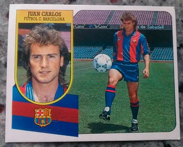 Cromo Juan Carlos (Barcelona) 91-92.