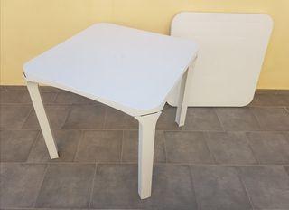 mesa de jardín desmontable pvc 80x80 neuvo