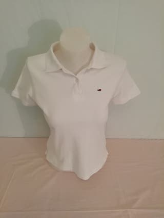 Polo blanco mujer de Tommy Hilfiger