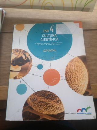 Libro Cultura Científica 4 ESO