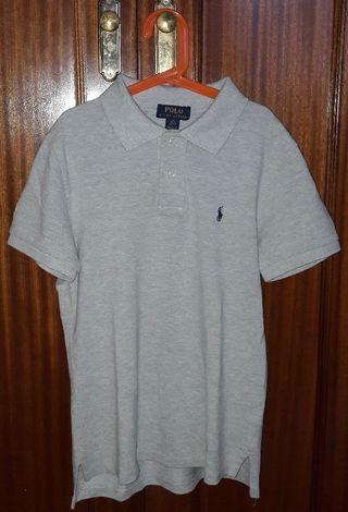 Polo gris Polo Ralph Lauren 14 años