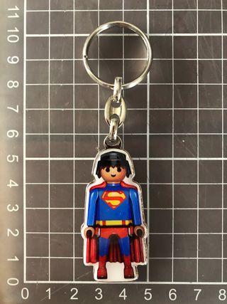 Llavero metálico Superman Playmobil
