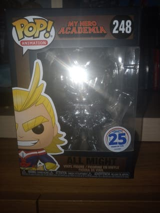 Funko pop all might cromado funimation