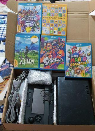 Wii U + 5 juegos