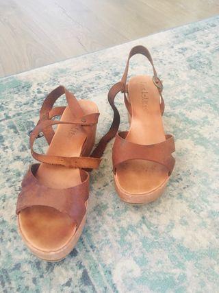 Sandalias compradas en Italia