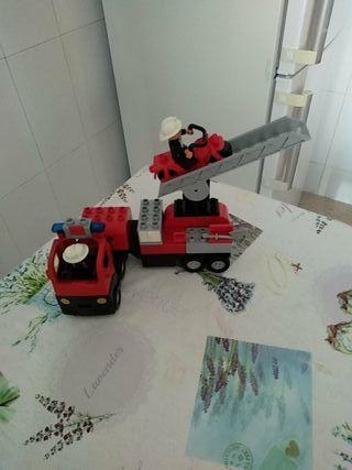 Lego Camion de bomberos y moto