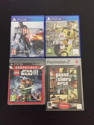 Cajas vacías videojuegos