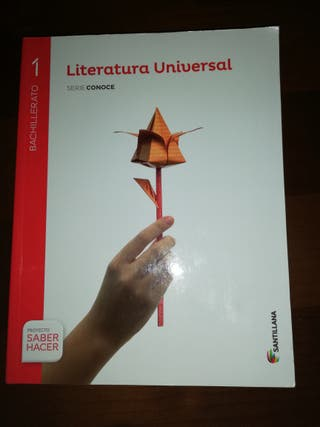 Libro de 1 de bachillerato de Literatura Universal