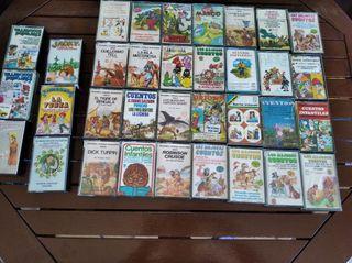 colección cassettes cuentos infantiles