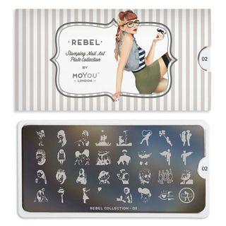 Nail art plaque REBEL 02
