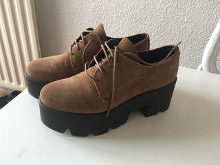 Zapatos serraje piel nuevos