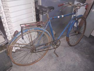 bicicleta antigua color azul