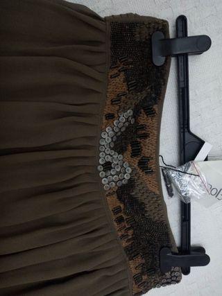 falda larga de fiesta o boda.