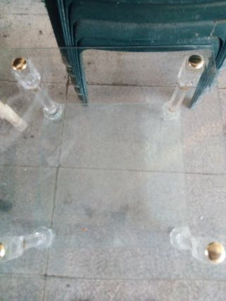 mesa pekeña d cristal