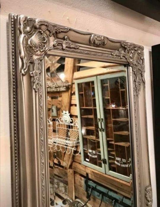 Espejo plateado 132x42 cm