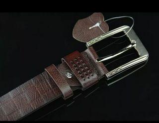 Cinturón piel para hombre. Color coffee.