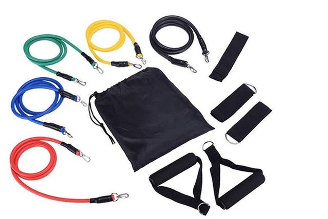 11 PC resistance bands