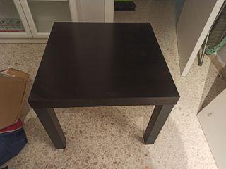 Mesa cuadrada negra 55x55x45