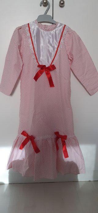 vestido disfraz chulapa talla 3 a 5 años