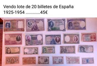 Billetes antiguos españoles
