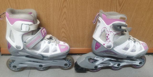 patines rollerblade + casco + protecciones + bols