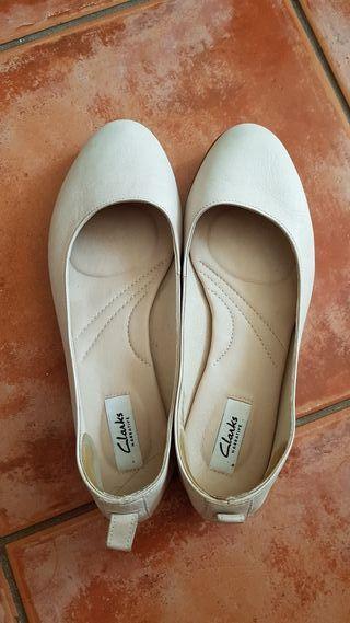 Bailarinas zapatillas Clarks piel, talla 38