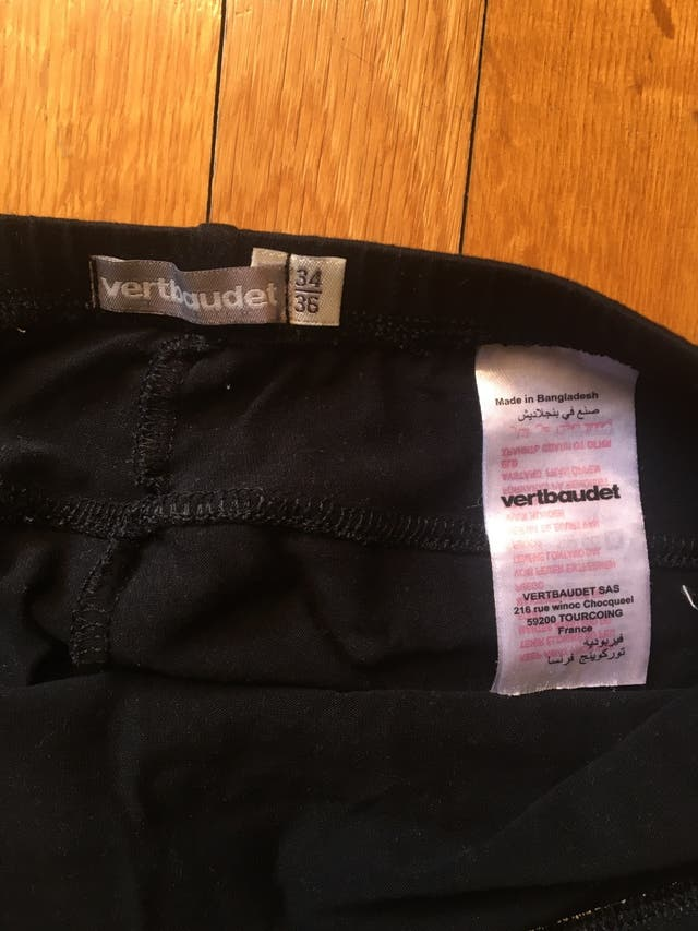 Camiseta y leggins embarazo Vertbaudet