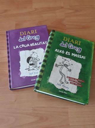Pack de libros de el diario de Greg en catalán.
