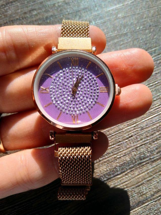Purple Women Luxury Stardust Wristwatch